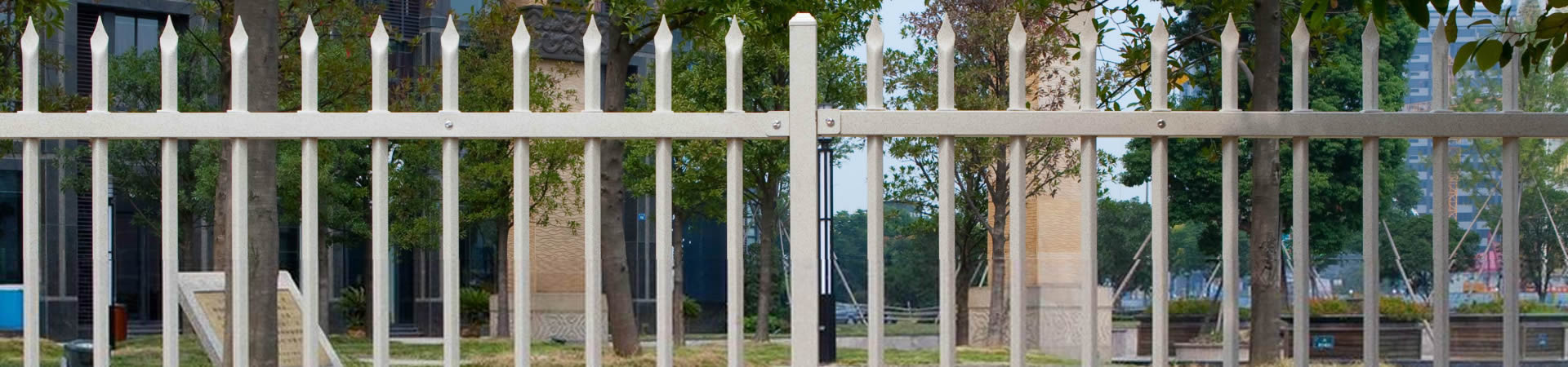 Ornamental iron panels -  Ornamental Component Steel Fence Panels With Pressed Spear Top