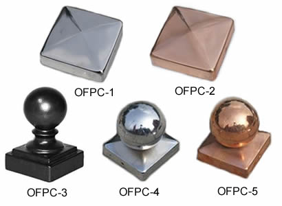 Ornamental Fence Finials, Post Caps & Brackets