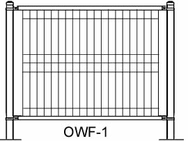Plan drawing of ornamental wire fence OWF-1