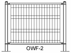 Plan drawing of ornamental wire fence OWF-2