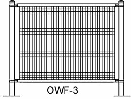 Plan drawing of ornamental wire fence OWF-3
