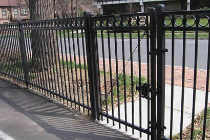 Ornamental fence gates